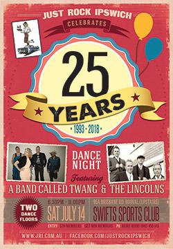 JRI's 25 Year Birthday Dance @ Swifts Sports Club (Upstairs)